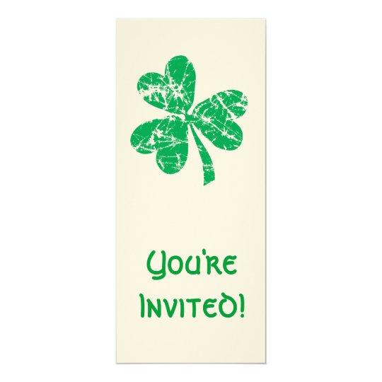 St. Patrick's Day Green Shamrock Card