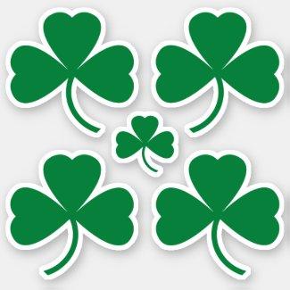 St. Patrick's Day Green Shamrock Clover Sticker