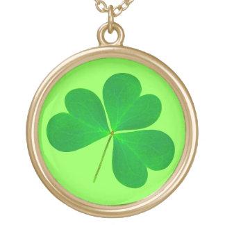St. Patrick's Day Green Shamrock Irish Necklace