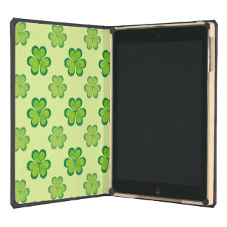 St. Patrick's Day Green Shamrocks Lucky Clovers iPad Air Cases