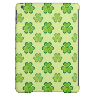 St. Patrick's Day Green Shamrocks Lucky Clovers iPad Air Cover