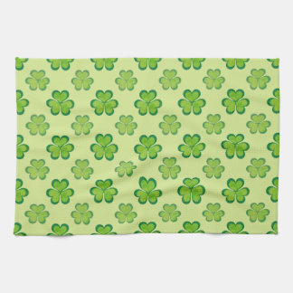 St. Patrick's Day Green Shamrocks Lucky Clovers Kitchen Towels