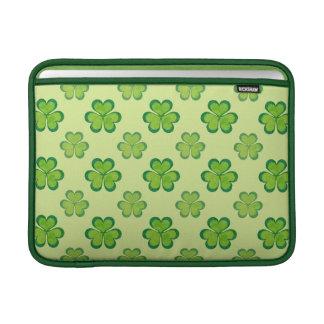 St. Patrick's Day Green Shamrocks Lucky Clovers MacBook Sleeve