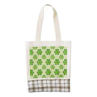 St. Patrick's Day Green Shamrocks Lucky Clovers Zazzle HEART Tote Bag