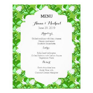 St. Patrick's Day Green Wedding Menu