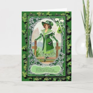 St. Patrick's Day Greeting Cards and Postcards card