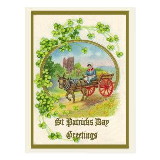 St Patricks Day Greeting Postcard