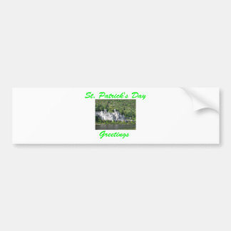 St. Patrick's Day Greetings Car Bumper Sticker