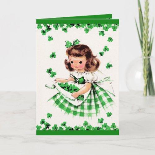 St Patricks Day Greetings Customizable Card