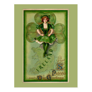 St Patricks Day Greetings Post Card
