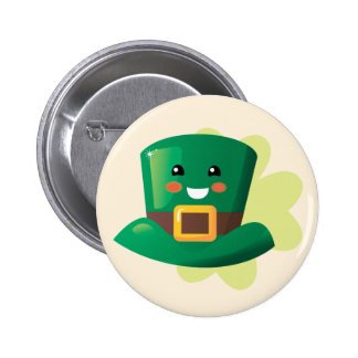St. Patrick's Day Happy Hat Pinback Button