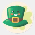 St. Patrick's Day Happy Hat Sticker