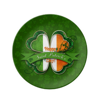 St. Patrick's Day - Happy St. Patrick's Day Dinner Plate