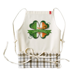 St. Patrick's Day - Happy St. Patrick's Day Zazzle HEART Apron
