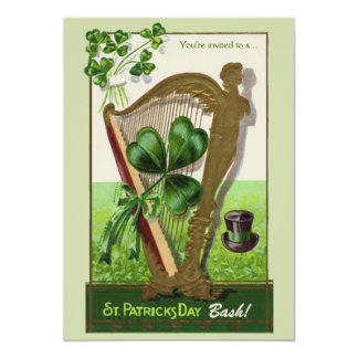 St. Patrick's Day Harp Invitation