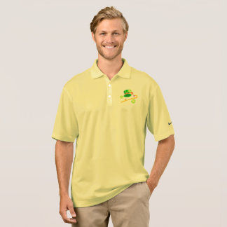 St. Patrick's Day Hat & Cane Polo Shirt