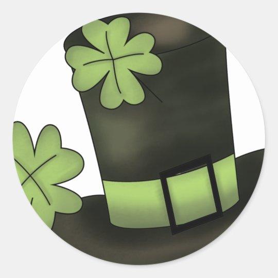 St.Patricks day Hat Classic Round Sticker