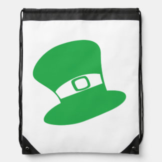 St. Patrick's Day Hat Drawstring Backpack