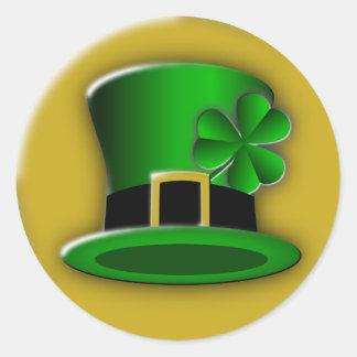 St Patricks Day Hat Round Stickers