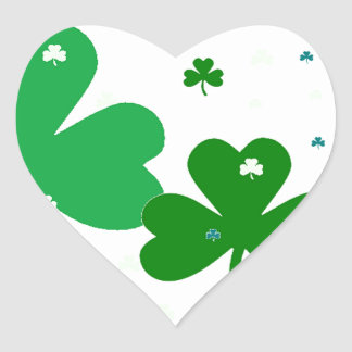St. Patrick's Day Heart Sticker