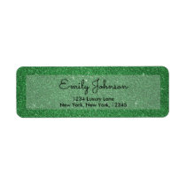 St. Patrick's Day Holiday Green Glitter & Sparkle Label