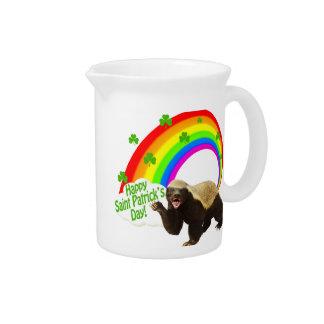 St. Patrick's Day Honey Badger Beverage Pitcher