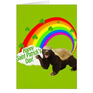 St. Patrick's Day Honey Badger Card