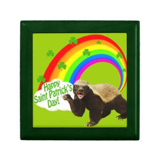 St. Patrick's Day Honey Badger Keepsake Box