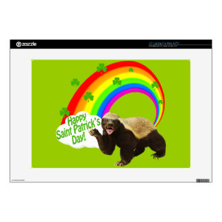 St. Patrick's Day Honey Badger Decal For Laptop