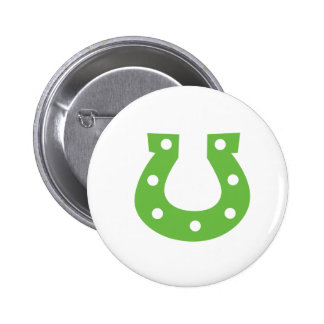 St. Patrick's Day Horse Shoe Round Button