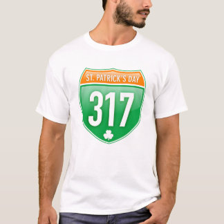 St. Patrick's Day Interstate 317 T-Shirt