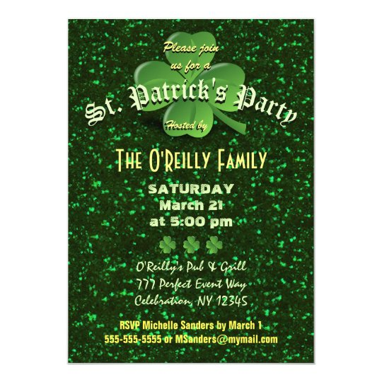 st patrick s day invitation zazzle com