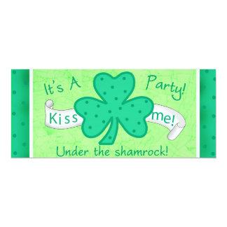 St. Patrick's Day Invitation Party Under Shamrocks