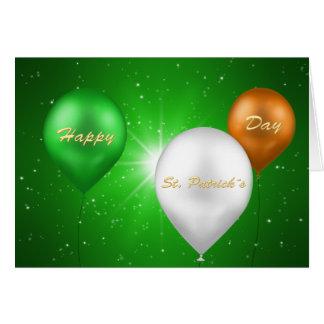 St. Patrick's Day Irish Balloons - Greeting Card