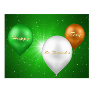 St. Patrick's Day Irish Balloons - Postcard