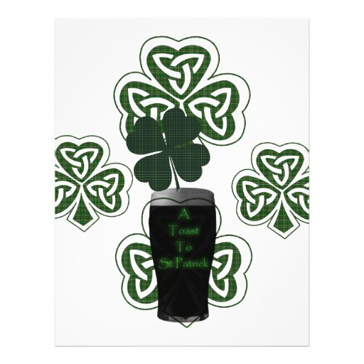 """St Patrick's Day Irish Beer Celebration products"" Letterhead"