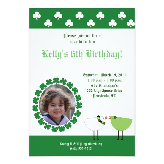 St. Patrick's Day Irish Birds *PHOTO* invite