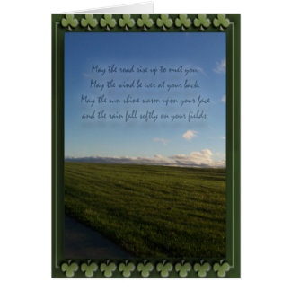 St. Patrick's Day Irish Blessing Card