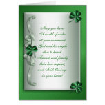 St Patrick's day Irish blessing card