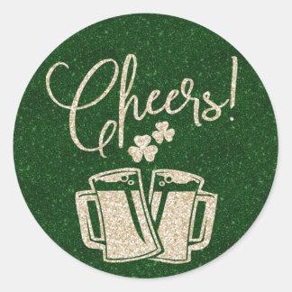 St Patricks Day Irish Cheers   Beer Party Classic Round Sticker