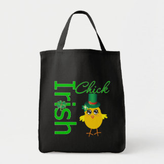 St. Patrick's Day Irish Chick Grocery Tote Bag