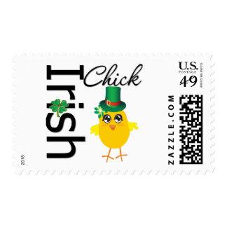 St. Patrick's Day Irish Chick Postage Stamp