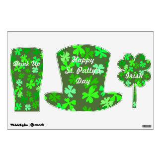 St. Patrick's Day Irish Clovers Wall Decals