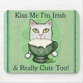 St. Patrick's Day Irish Coffee Cat Mouse Pad