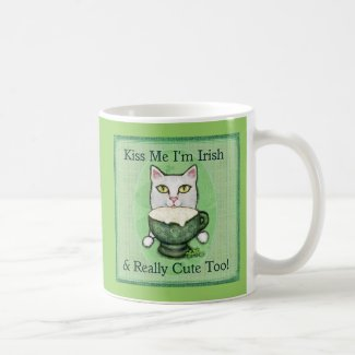 St. Patrick's Day Irish Coffee Cat Mug