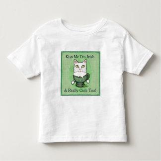 St. Patrick's Day Irish Coffee Cat T-shirt