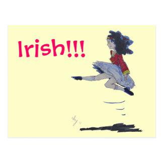 St. Patrick's Day Irish Dancing Cartoon Postcard