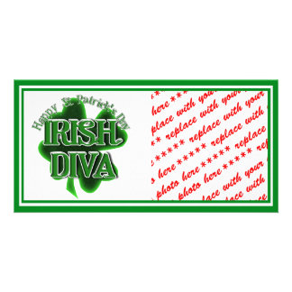 St Patrick's Day Irish Diva Photo Card