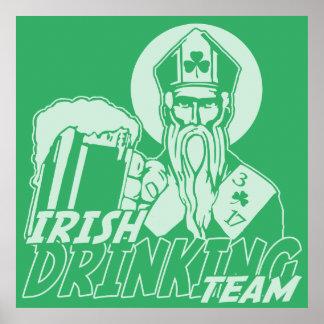 St Patrick's Day Irish Drinking Team Poster