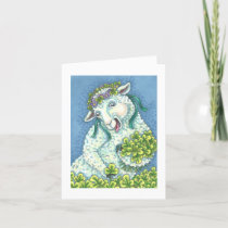 ST. PATRICK'S DAY IRISH EWE GREETING NOTE CARD B
